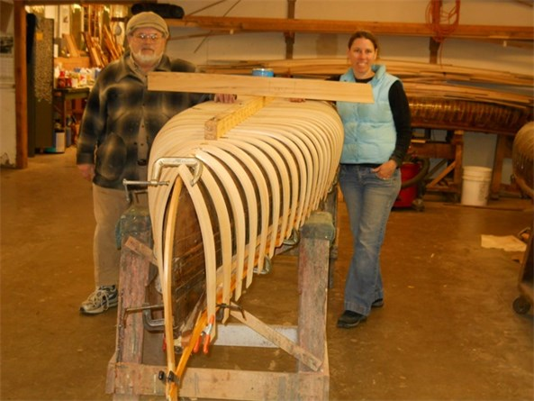 Mark Zalonis and daughter Alice building a 16' guide