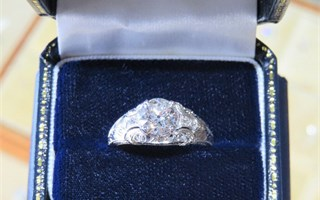 A 1.45 Carat European Cut Diamond Ring