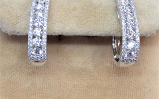Kashi Multi-Diamond  Omega Back Earrings
