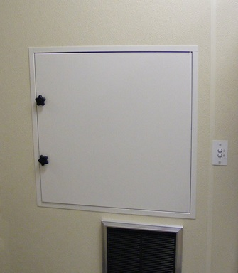 Butler's dumbwaiter can work for your project.