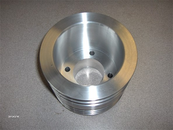 Custom 6 inch 5 groove engine pulley