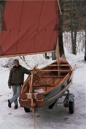 The 20' Moosehead Laker rigged for sailing