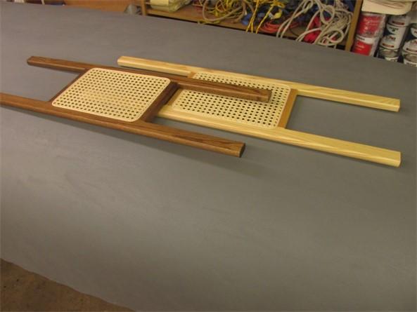 Pressed cane seats