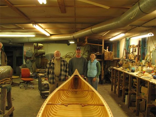 Mark Zalonis and his daugter Alice building a 16' guide