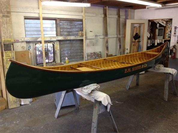 Doug's finished canoe