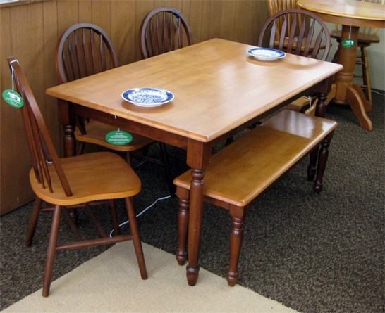 Amesbury Table, Chairs & Bench Seat