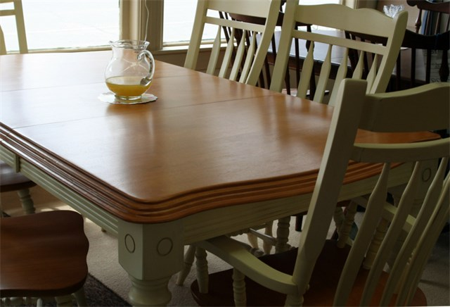 Farm collection table with Wood Top