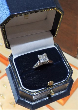 Large Princess Solitaire Ring