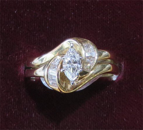 Marquise and Baguette Diamond RIngs.