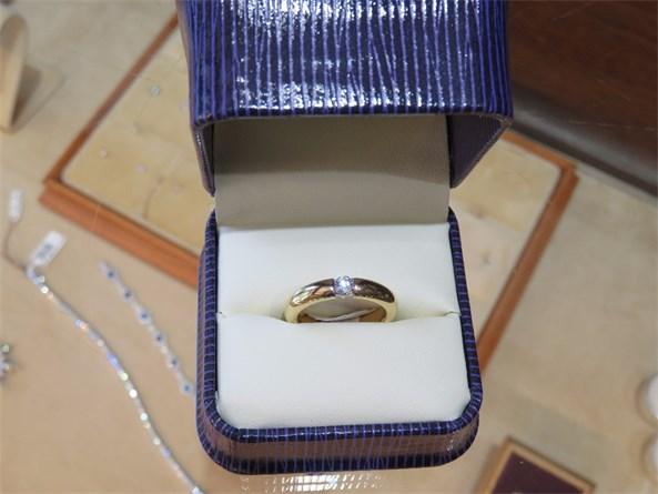 Heavy Jabel Tension Set Diamond Ring