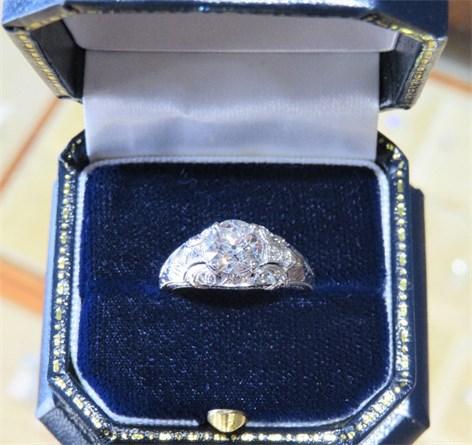 A 1.45 Carat European Cut Diamond Ring
