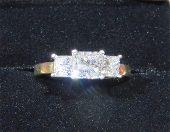 Princess Trinity Diamond Ring