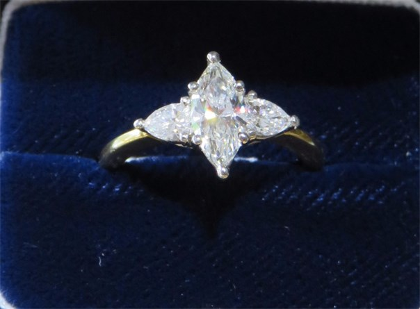 Marquise and Pear Shape Diamond Ring