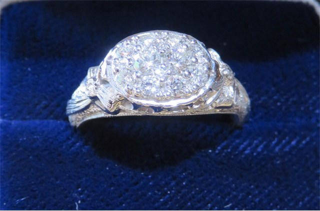 Jabel Diamond Cluster Ring
