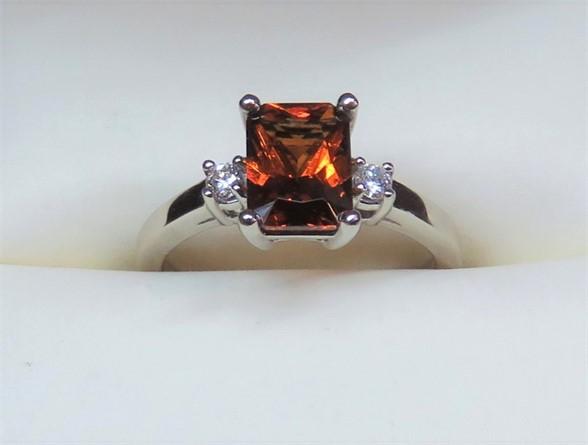 Kenyon Garnet and Diamond Ring