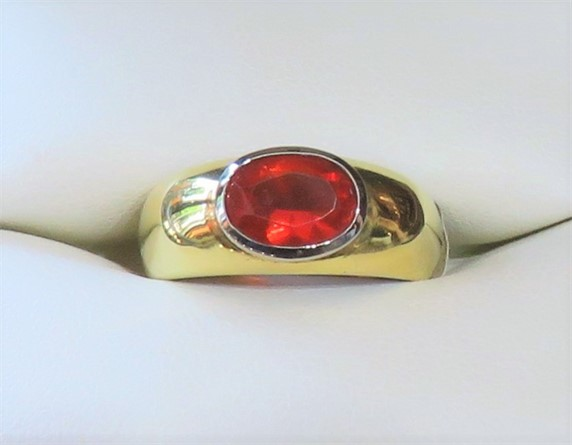 Oval Mexican Opal Ring