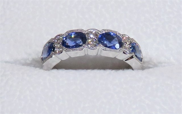 Oval Sapphire and Diamond Ring