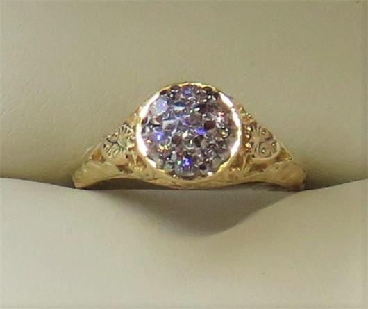 Jabel Diamond Cluster Ring