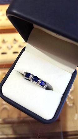 James Breski Sapphire and Diamond Ring