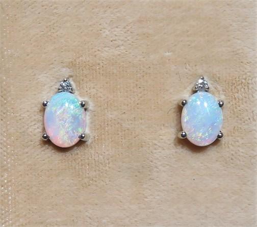 Oval Opal Studs