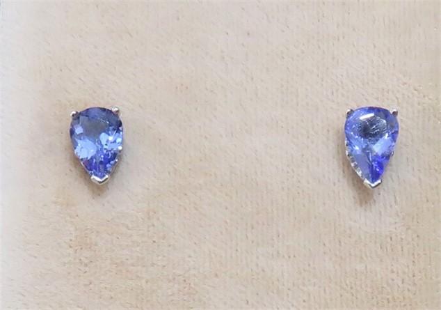 Pear Shape Tanzanite Stud Earrings