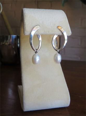 Tom Kruskal Pearl Earrings