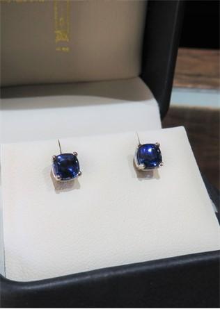 Sapphire Stud Earrings.