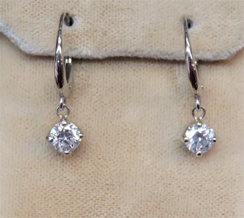 Leverback Round Dangle Earrings
