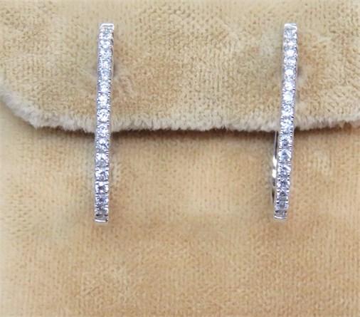 Multi Diamond Hoop Earrings