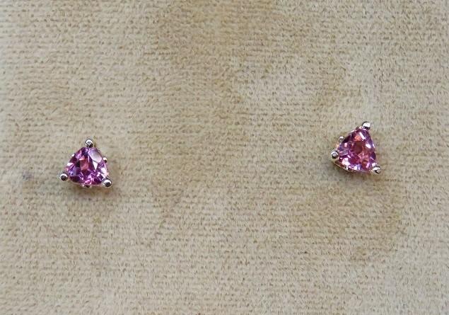 Pink Maine Tourmaline Stud Earrings