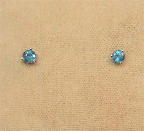 Genuine Alexandrite Stud Earrings