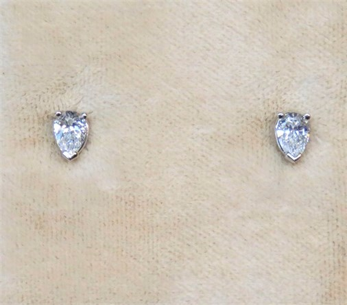 Pear Shape Diamond Earring Studs