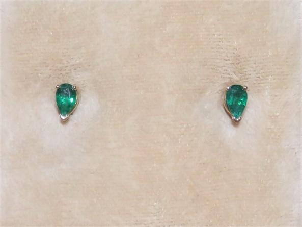 Pear Shaped Emerald Earrings