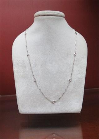 Bezelset Diamond Necklace