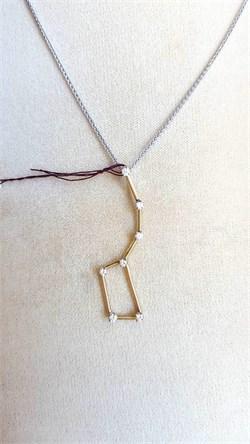 14Karat Gold and DIamond Big Dipper Pendant