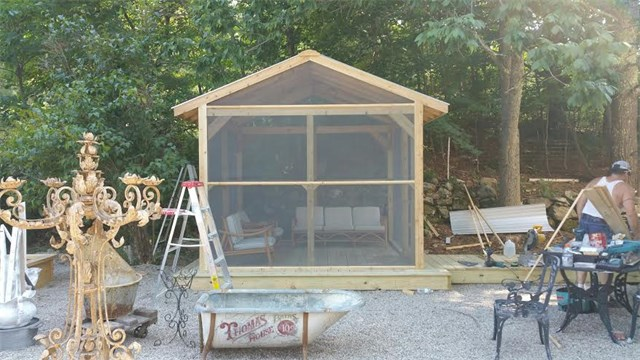 Custom Cedar Screen Room