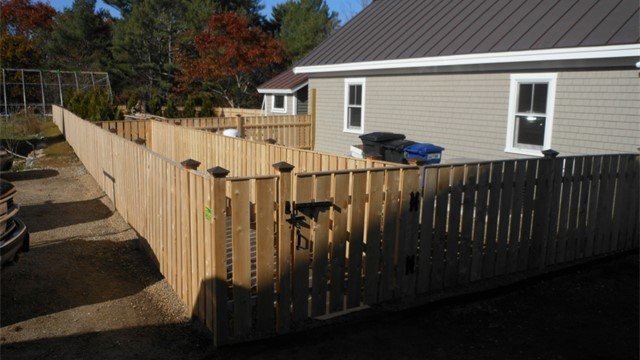 Custom Cedar Picket Fence with Cap Board