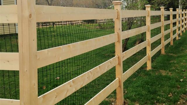 Cedar 4 Rail Paddock Rail Fencing