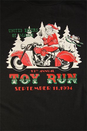 United Biker of Maine Toy Run T-Shirt 1994
