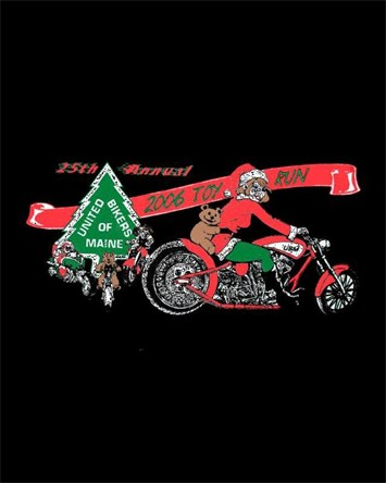 United Bikers of Maine Toy Run T-Shirt 2006