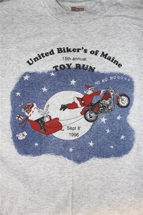 United Bikers of Maine Toy Run T-Shirt 1996