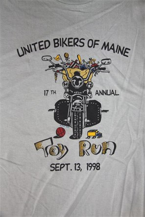 United Bikers Of Maine Toy Run T-Shirt 1998