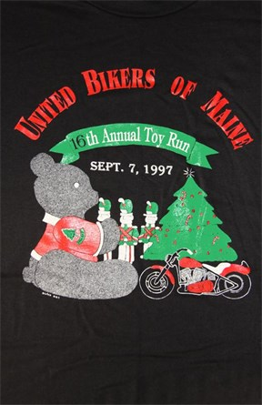 United Bikers of Maine Toy Run T-Shirt 1997