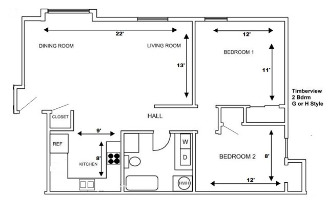 2 Bedroom G or H Style