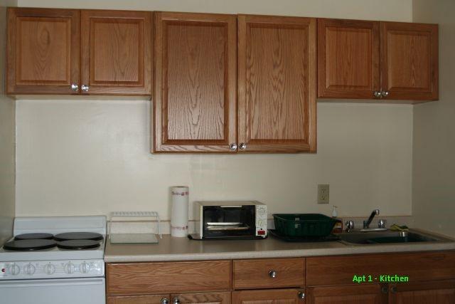 College Park One Bedroom Kitchen