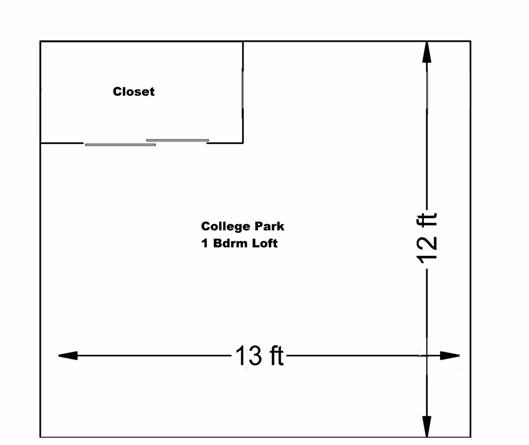 College Park One Bedroom Loft bedroom