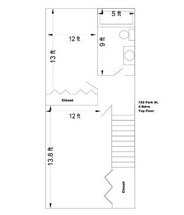 4 Bedroom Upper Level Floor Plan