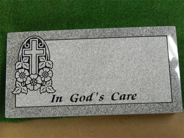 Cross/Flowers - In God's Care Marker
