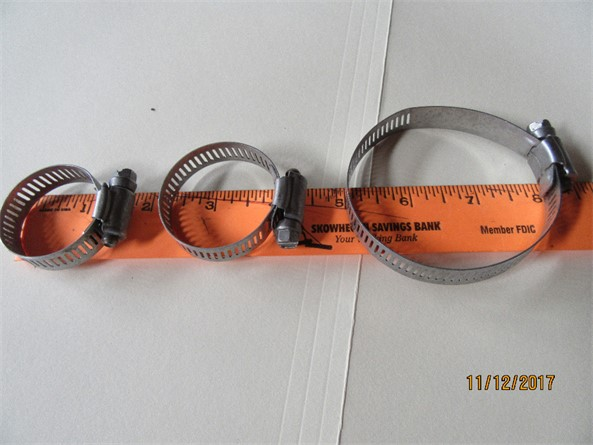 Pipe clamps- all sizes needed
