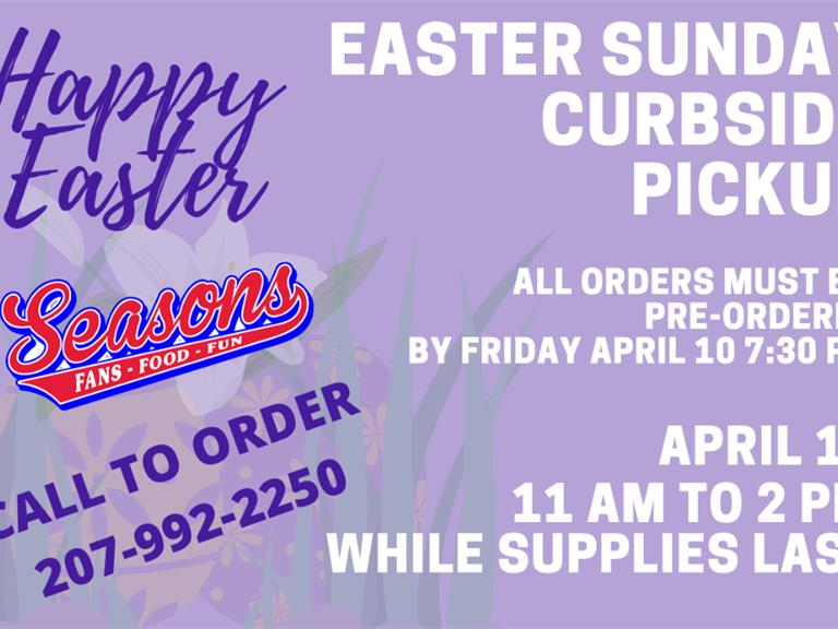 Seasons Easter Sunday Dinner Curbside Pickup